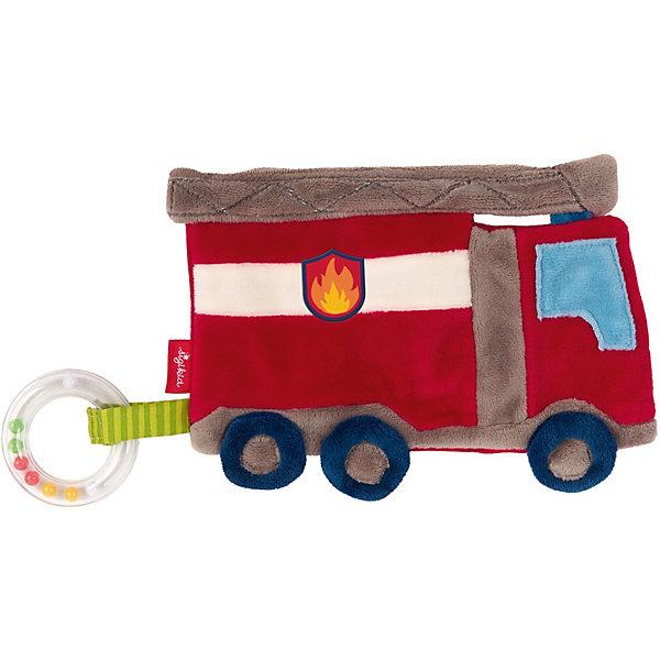 Sigikid Мягкая игрушка Sigikid, шуршащий комфортер Пожарная Машина, коллекция Классик, 18 см