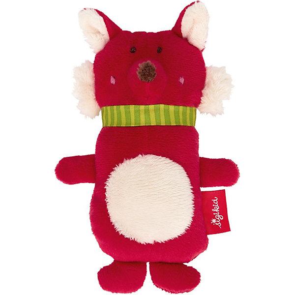 Sigikid Мягкая игрушка-хваталка Sigikid Коллекция Красные Звезды Лисичка с пищалкой, 13 см игрушка