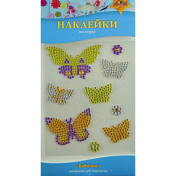АппликА Набор для творчества Апплика Декоративные наклейки из страз Бабочки