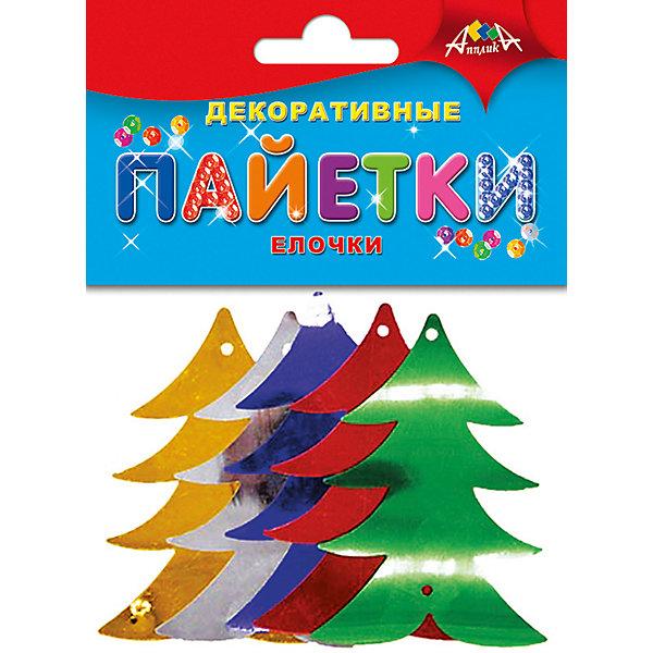 АппликА Набор для творчества Апплика Декоративные пайетки Новый год, Ёлочки