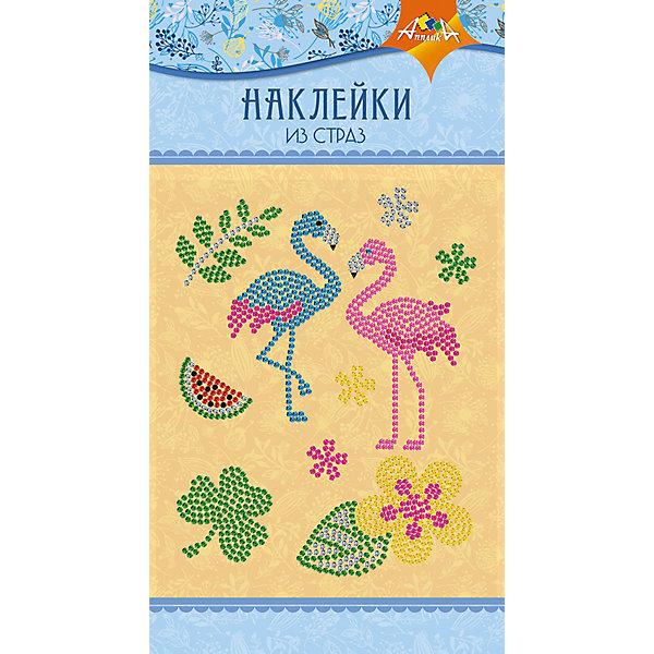 АппликА Набор для творчества Апплика Декоративные наклейки из страз Фламинго