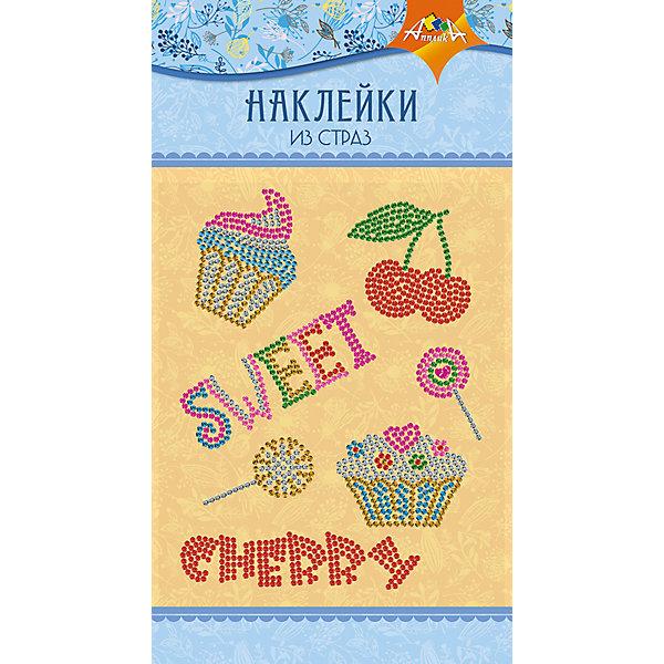 АппликА Набор для творчества Апплика Декоративные наклейки из страз Cherry апплика набор для творчества апплика декоративные наклейки из страз beauty