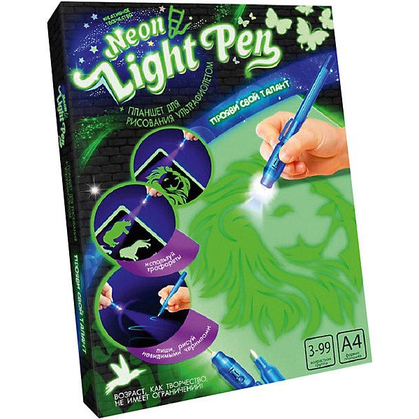 Набор для творчества Danko Toys Планшет для рисования ультрафиолетом Neon light pen, набор № 1 фото