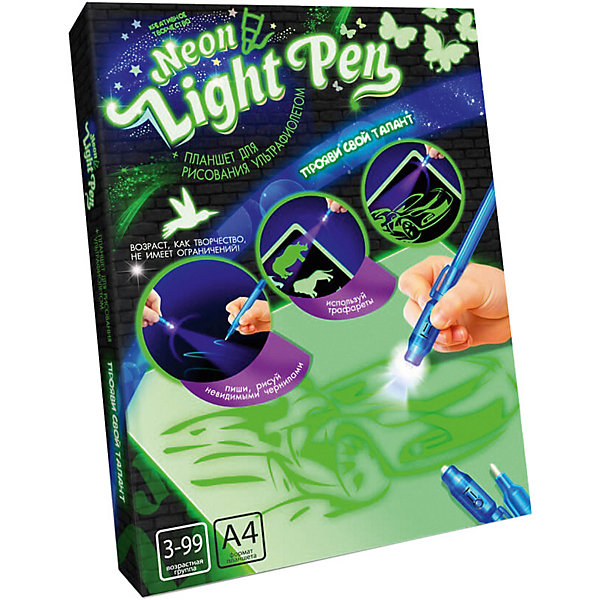 Danko Toys Набор для творчества Danko Toys Планшет для рисования ультрафиолетом Neon light pen, набор № 2 планшет