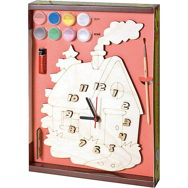Нескучные игры Набор для творчества Нескучные игры Часы с циферблатом под роспись Домик новый формат набор д творчества математические игры и фокусы