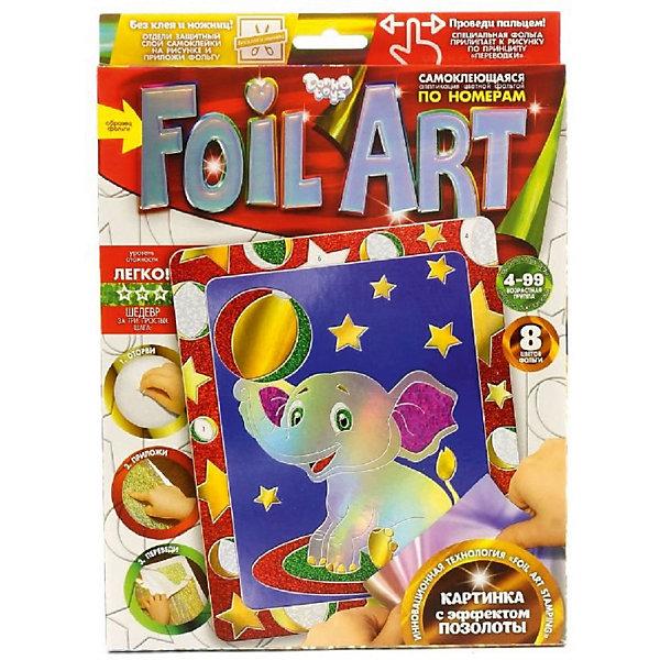 Danko Toys Набор для творчества Аппликация цветной фольгой Слонёнок