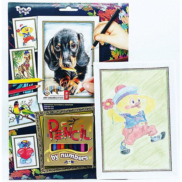 Danko Toys Набор для творчества Danko Toys Раскраска карандашами по номерам Собачка
