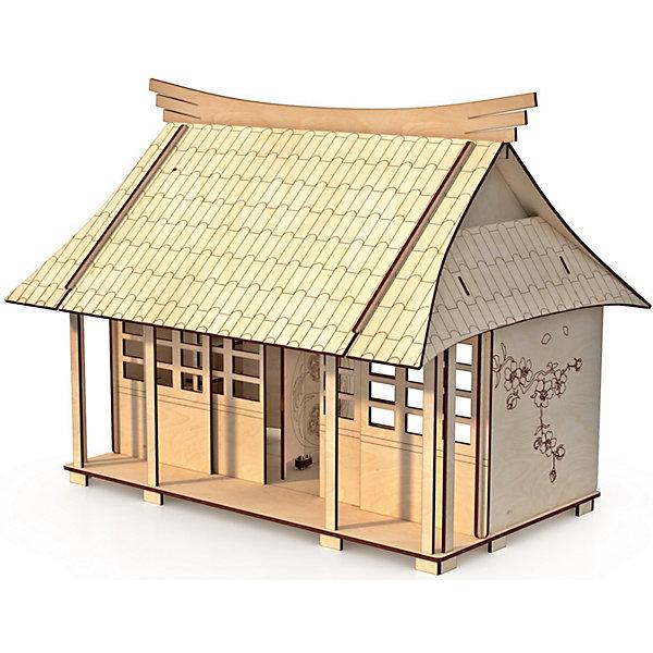 Купить Сборная модель ХэппиДом Кукольный домик Сакура , с мебелью, Россия, Унисекс