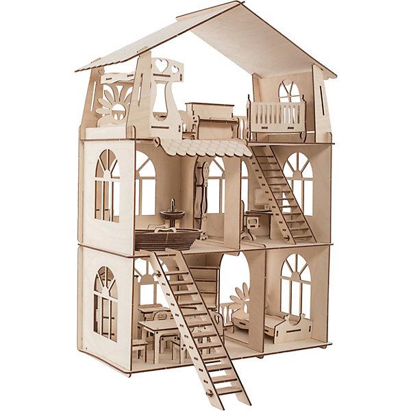 ХэппиДом Сборная модель Коттедж с мебелью Premium