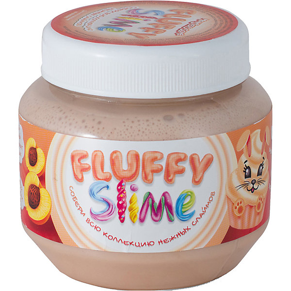 Купить Слайм Monster's Slime Fluffy Бежевый с ароматом персика, 250 мл, KiKi, Россия, бежевый, Унисекс