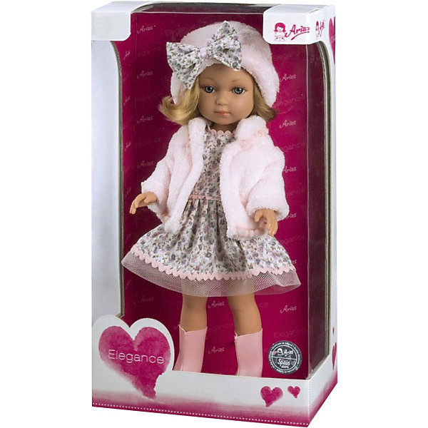 Arias Кукла Arias Elegance Carlota 36 см, Т11074 кукла arias брюнетка в бежевом платье 33см