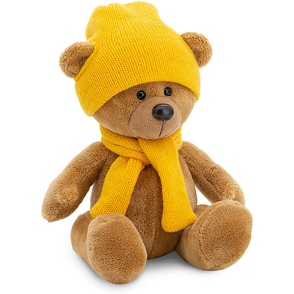 Мягкая игрушка Orange Медведь Топтыжкин коричневый: в шапке и шарфе, 17 см