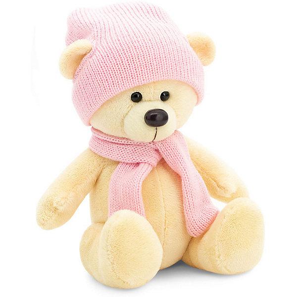 Orange Мягкая игрушка Orange Медведь Топтыжкин жёлтый: в шапке и шарфе, 25 см