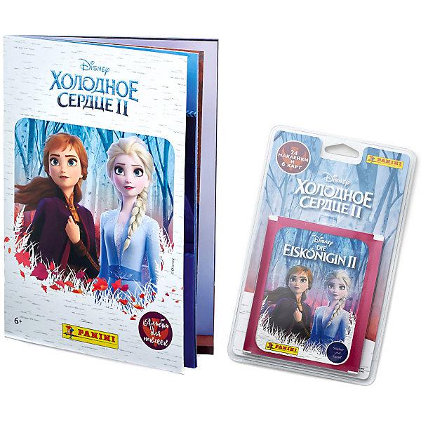 Panini Альбом Panini Холодное сердце 2 (Frozen 2) и блистер с наклейками, 6 пакетиков