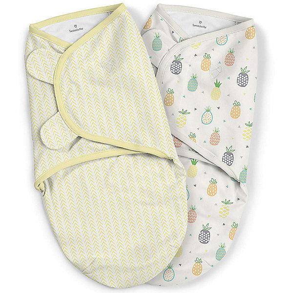 Конверт для пеленания на липучке Summer Infant, ананасы, желтый