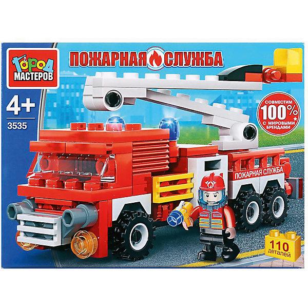 Город мастеров Конструктор Пожарная служба машина с фигуркой, 110 деталей