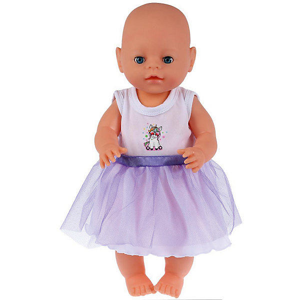 Карапуз Одежда для кукол Карапуз Единорог Платье карапуз одежда для куклы карапуз боди 40 42 см розовое