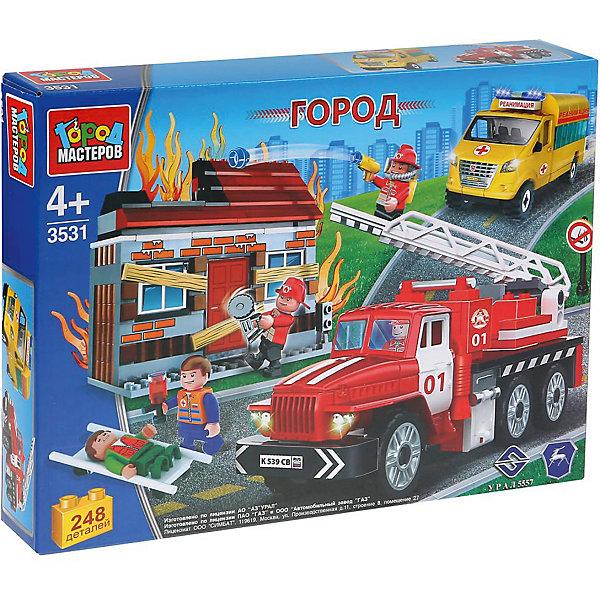 Город мастеров Конструктор Пожарная служба Спасение на пожаре с фигурками, 248 деталей