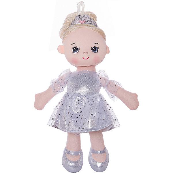 ABtoys Мягкая кукла Балерина в белом платье, 30 см