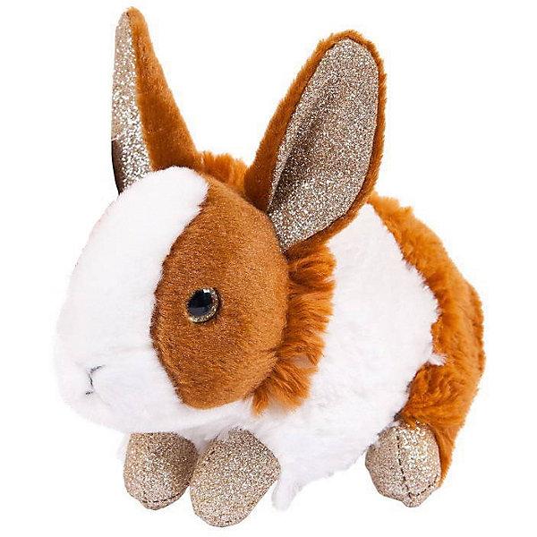 TEDDY Мягкая игрушка Teddy Кролик, 18 см, рыже-белый