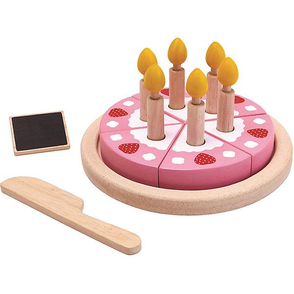 Купить Игровой набор Plan Toys Торт , розовый, Таиланд, Унисекс