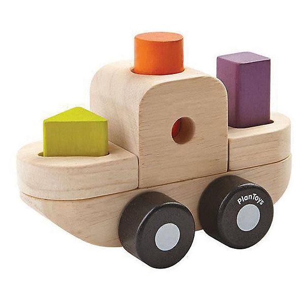 Купить Сортер-конструктор Plan Toys Корабль , 7 деталей, Таиланд, разноцветный, Унисекс