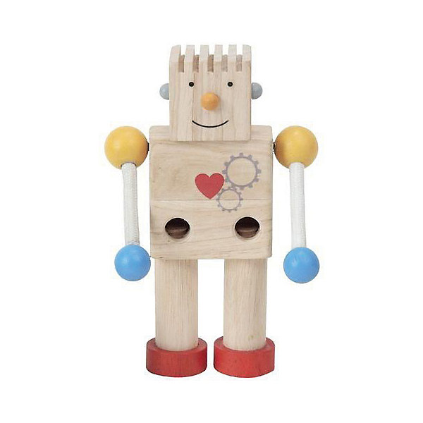 Купить Конструктор Plan Toys Робот , 5 деталей, бежевый, Таиланд, Унисекс