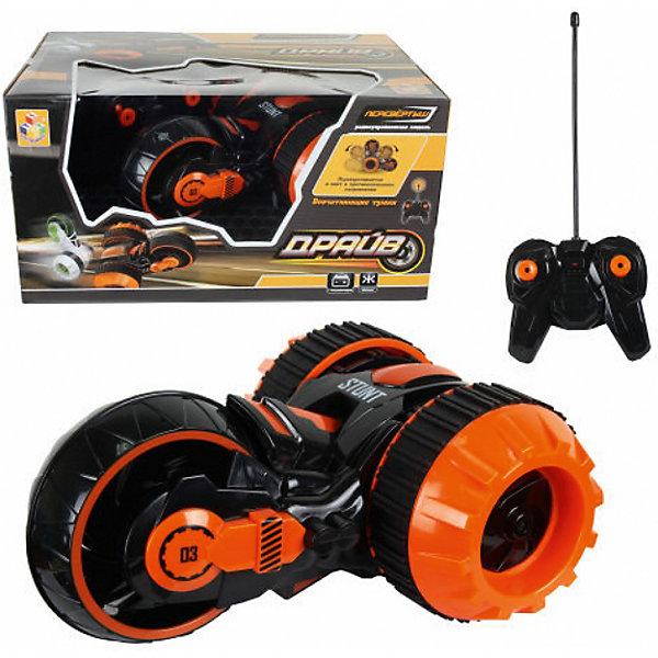 1Toy Радиоуправляемая машина 1Toy Драйв, свет, черная машина наша игрушка машина черный 699 194b