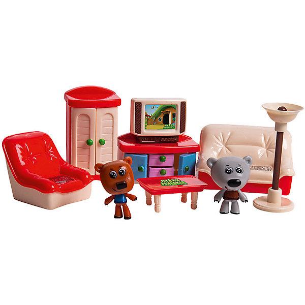 Gulliver Игровой набор Ми-Ми-Мишки Кеша, Тучка и гостиная, 7 деталей интерьера ми ми мишки бизиборд кеша