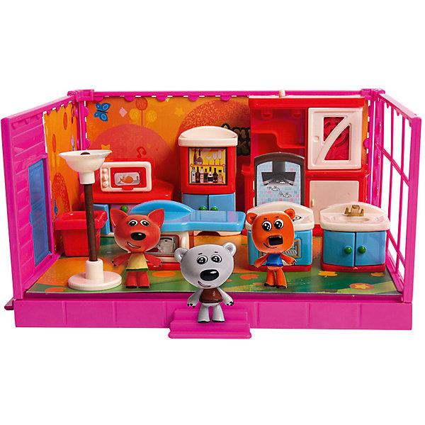 Купить Игровой набор Ми-Ми-Мишки Кеша, Тучка, Лисичка и кухня, 12 деталей интерьера, Gulliver, Китай, Унисекс