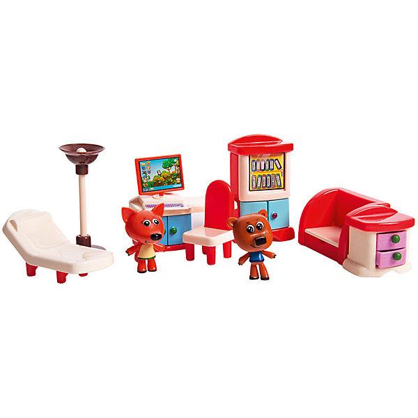 Gulliver Игровой набор Ми-Ми-Мишки Кеша, Лисичка и столовая, 8 деталей интерьера