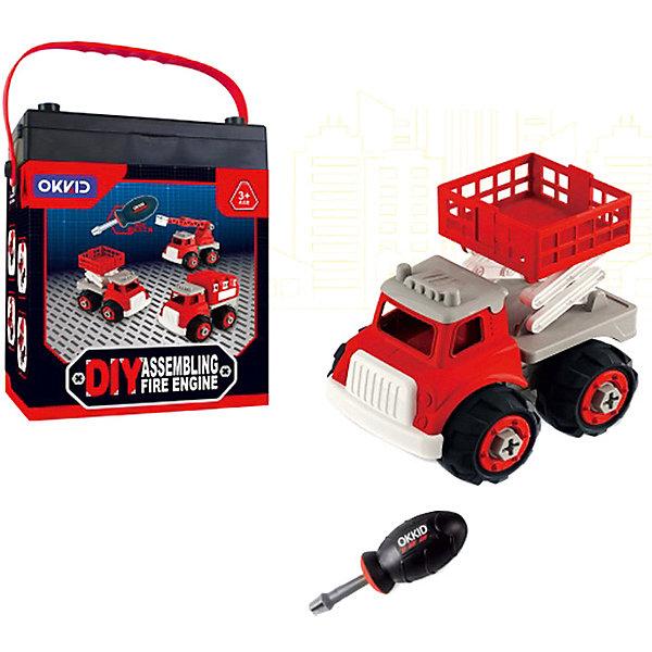 Junfa Toys Машинка-конструктор Собери сам Пожарная машина