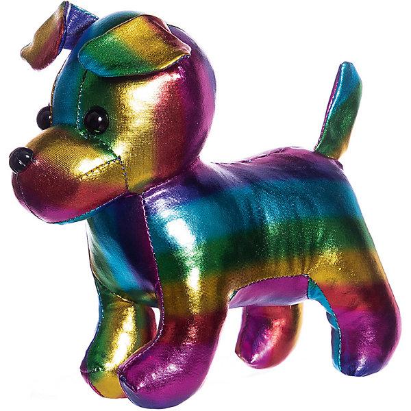 ABtoys Мягкая игрушка Металлик Собака, 15 см