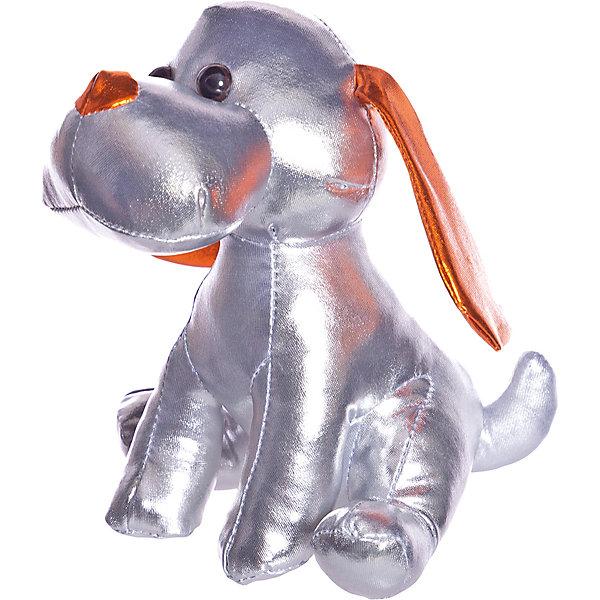 ABtoys Мягкая игрушка Металлик Собака, 17 см