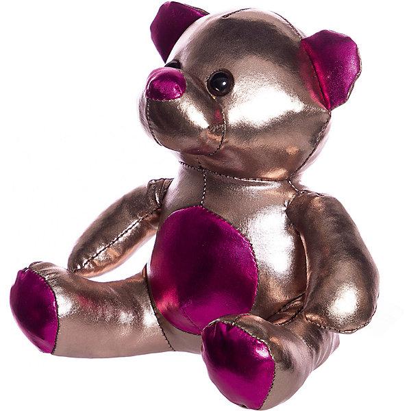 ABtoys Мягкая игрушка Металлик Медведь, 18 см