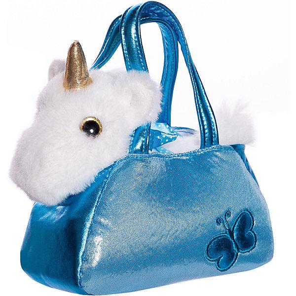 ABtoys Мягкая игрушка Животные в сумочках Единорог, 16 см