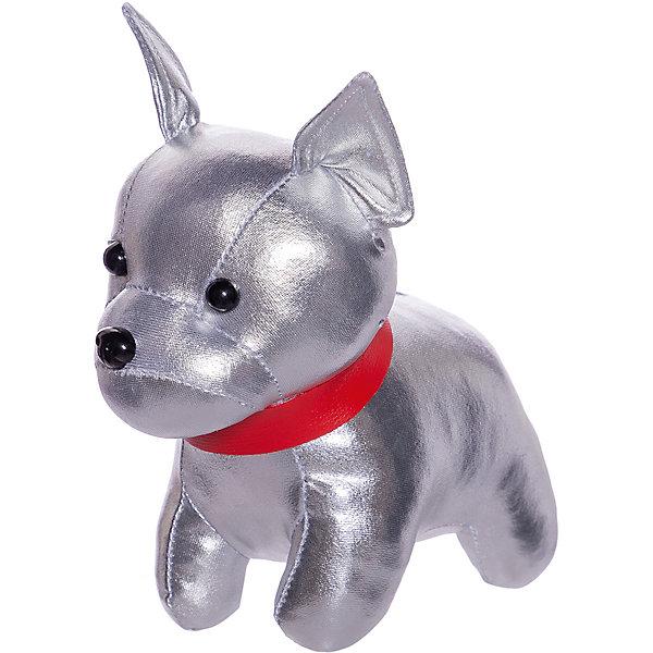 ABtoys Мягкая игрушка Металлик Французский бульдог, 15 см