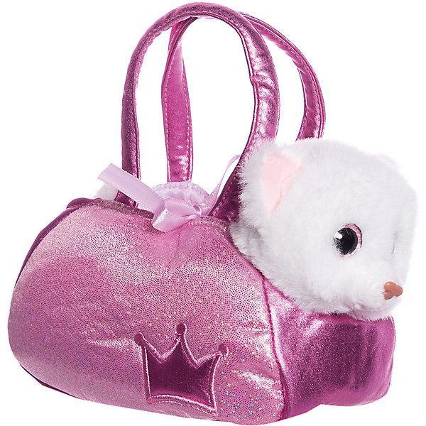 ABtoys Мягкая игрушка Животные в сумочках Котёнок, 16 см
