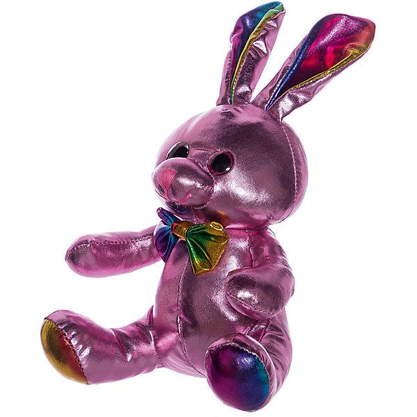 ABtoys Мягкая игрушка Металлик Кролик, 16 см