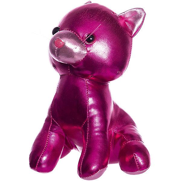ABtoys Мягкая игрушка Металлик Кошка, 18 см