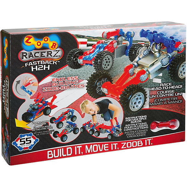Zoob Конструктор ZOOB Racer-Z Fastback H2H zoob подвижный конструктор на 35 деталей zoob 11035