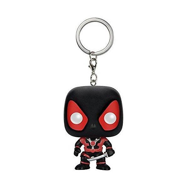 Funko Брелок Funko Pocket POP! Marvel: Black Deadpool цена и фото