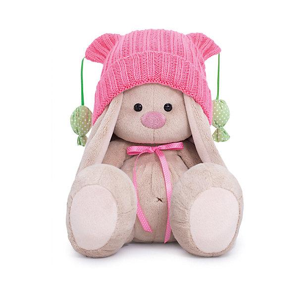 Budi Basa Мягкая игрушка Budi Basa Зайка Ми в розовой шапочке с помпонами, 18 см душевой шланг grohe relexaflex 28151001