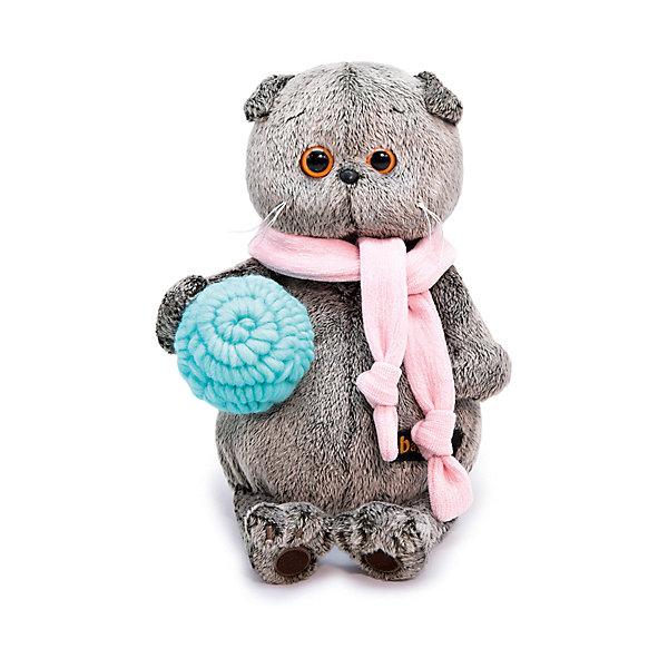 Купить Мягкая игрушка Budi Basa Кот Басик в шарфике и с клубком, 30 см, Россия, коричневый, Унисекс