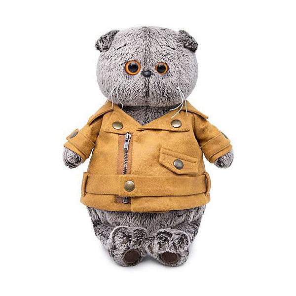 Budi Basa Мягкая игрушка Budi Basa Кот Басик в куртке-косухе, 22 см