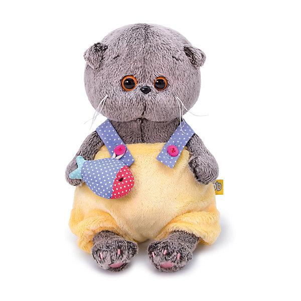 Купить Мягкая игрушка Budi Basa Кот Басик BABY в меховом комбинезоне, 20 см, Россия, коричневый, Унисекс