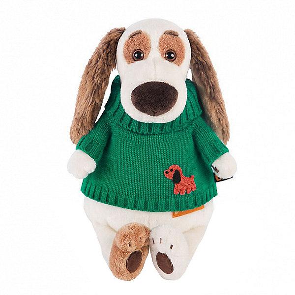 Budi Basa Одежда для мягкой игрушки Budi Basa Зеленый вязаный свитер с собачкой, 30 см