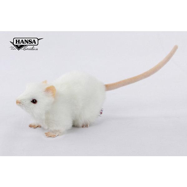 Hansa Мягкая игрушка Крыса белая 19 см