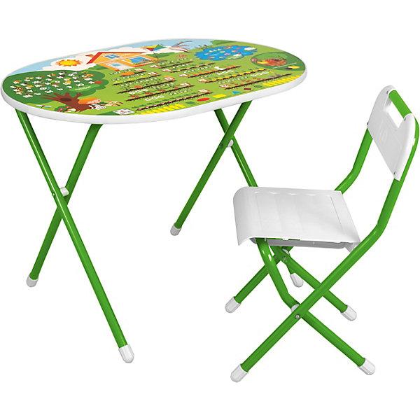 Набор складной мебели Дача №у3-01: стол и стул, зеленый от Дэми
