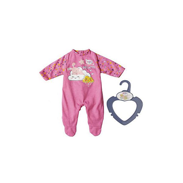 Zapf Creation Одежда для куклы Zapf creation My little baby born Ночной комбинезончик, zapf creation колготки 2 пары zapf creation серо голубые